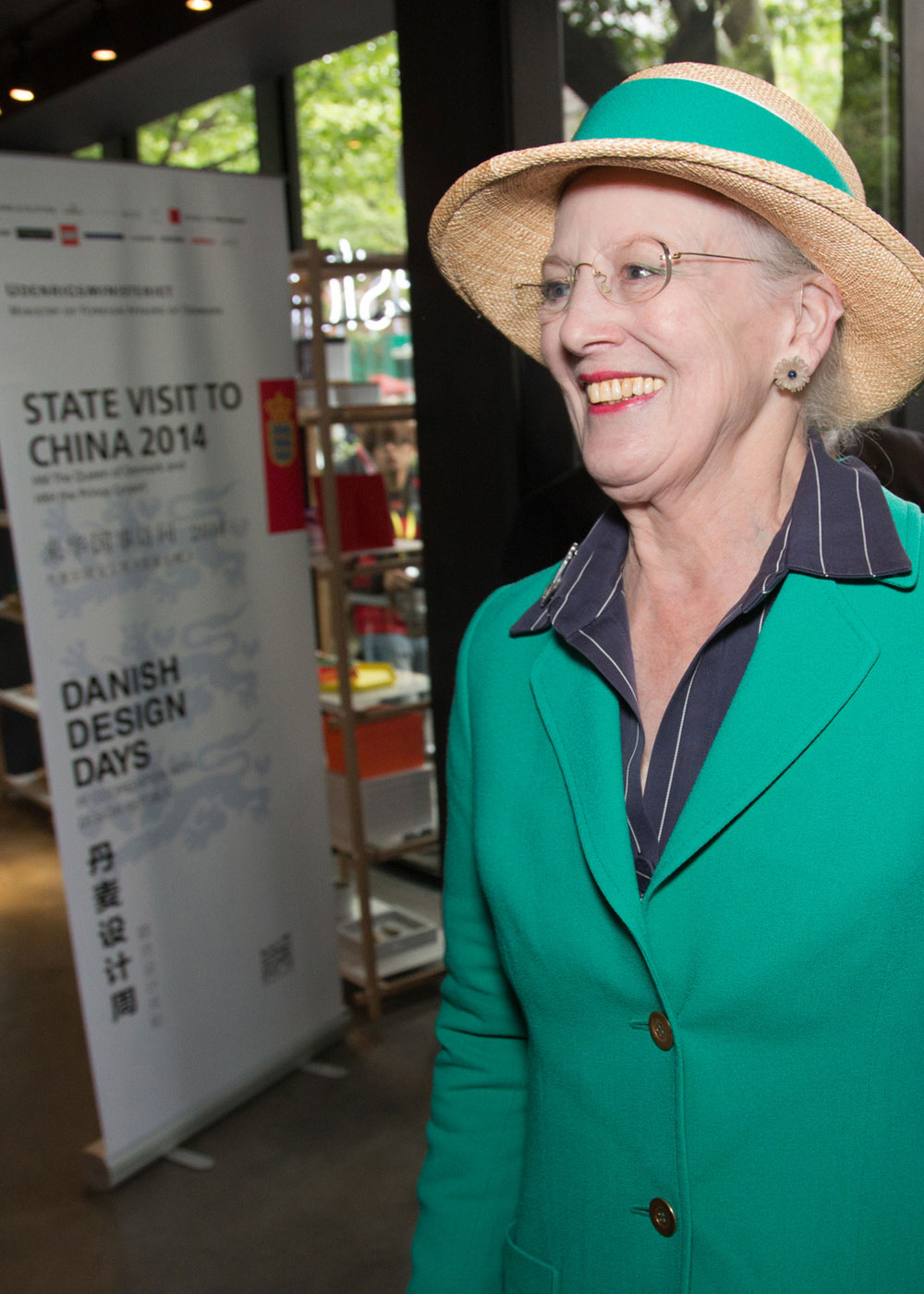 Danish Queen Margrethe visited the VOLA showroom in Shanghai